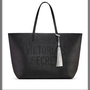 Victoria's secret laser-cut tote 2019 black bag